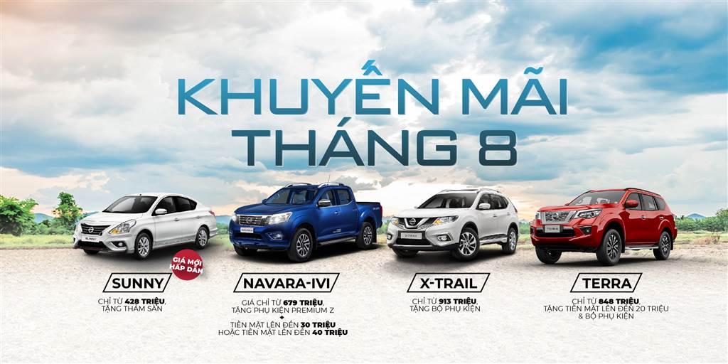 Nissan hạ giá Tháng 8