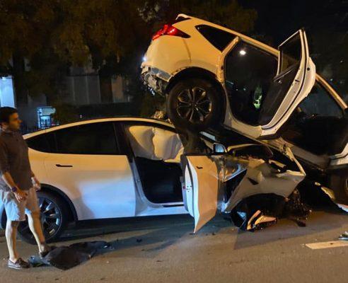 Tesla Model Y tai nạn